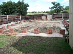 Site footings completed in preparation for new build bungalow