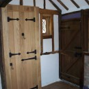 Internal bespoke solid oak doors