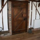 Restored original oak front door