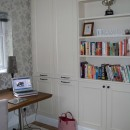 Bespoke cupboards and bookshelf made and decorated